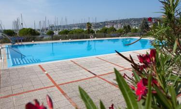 Adgang til pool strand i nærheden af feriestedet