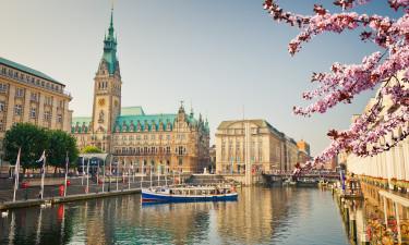 Bo på hotel i Hamborg