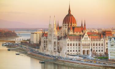 Budapest i Ungarn - Parlamentet