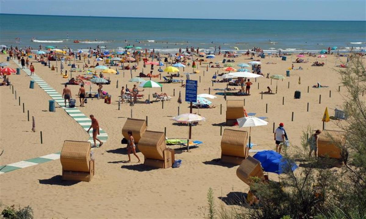 Stranden ved Lignano