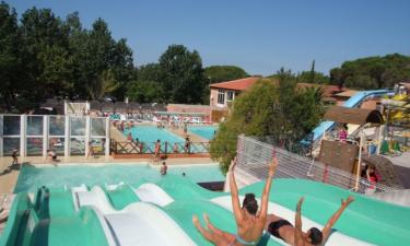Pool Camping Le Fréjus an der Côte d'Azur