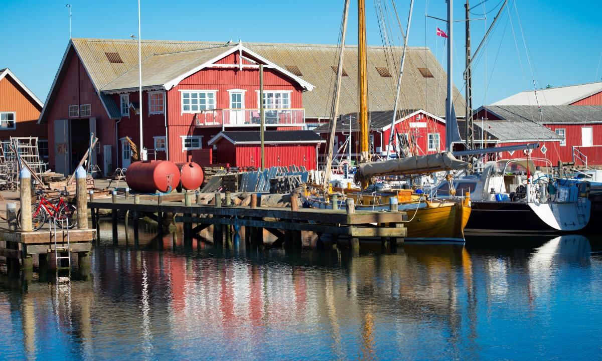 Havnen i Skagen i Danmark