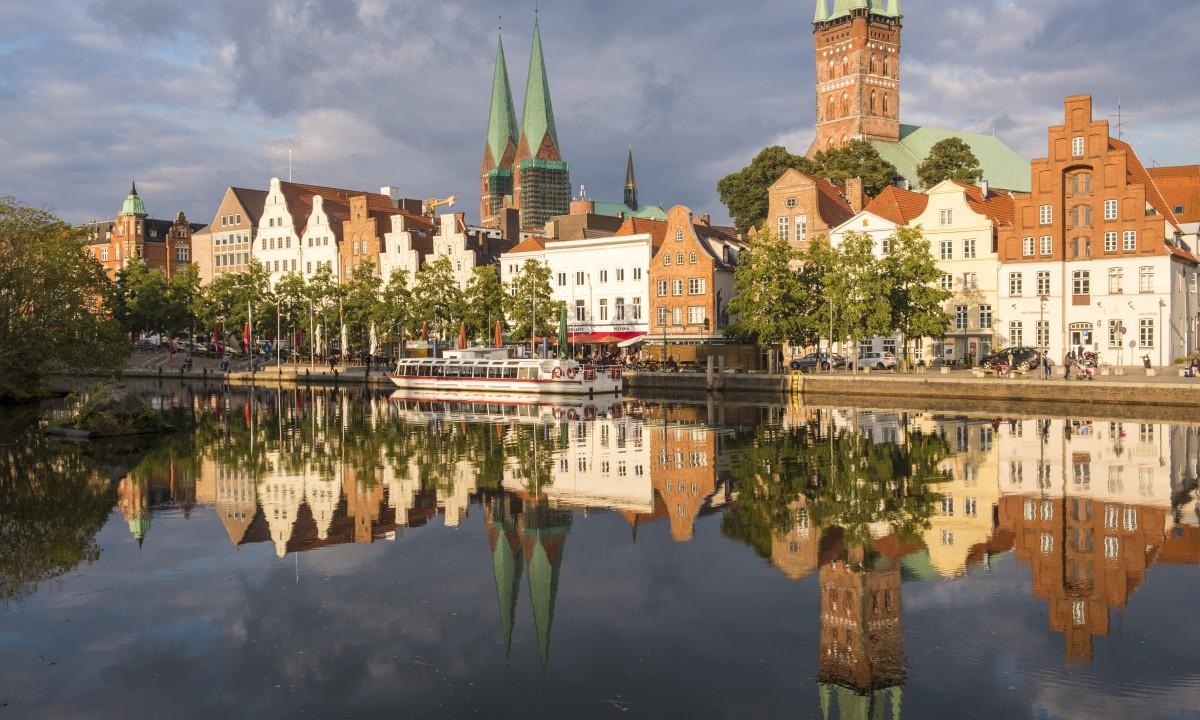 Lübeck i Nordtyskland