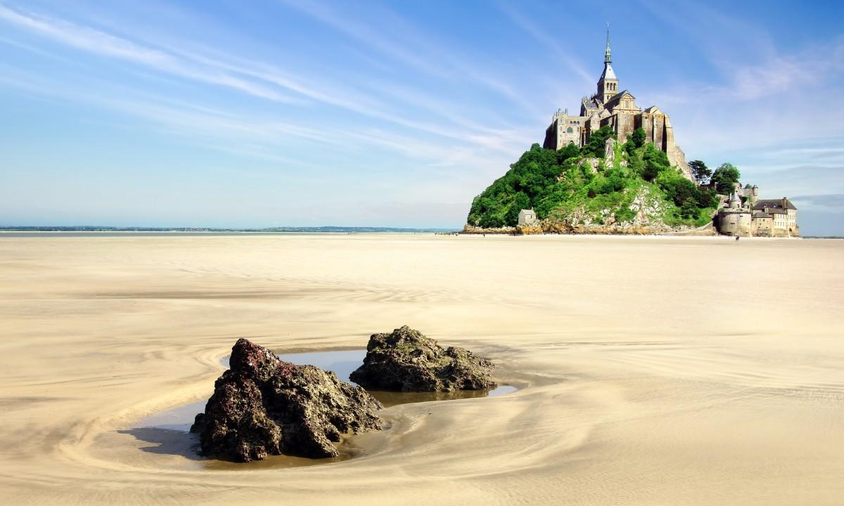 Flot natur i Normandiet i Frankrig