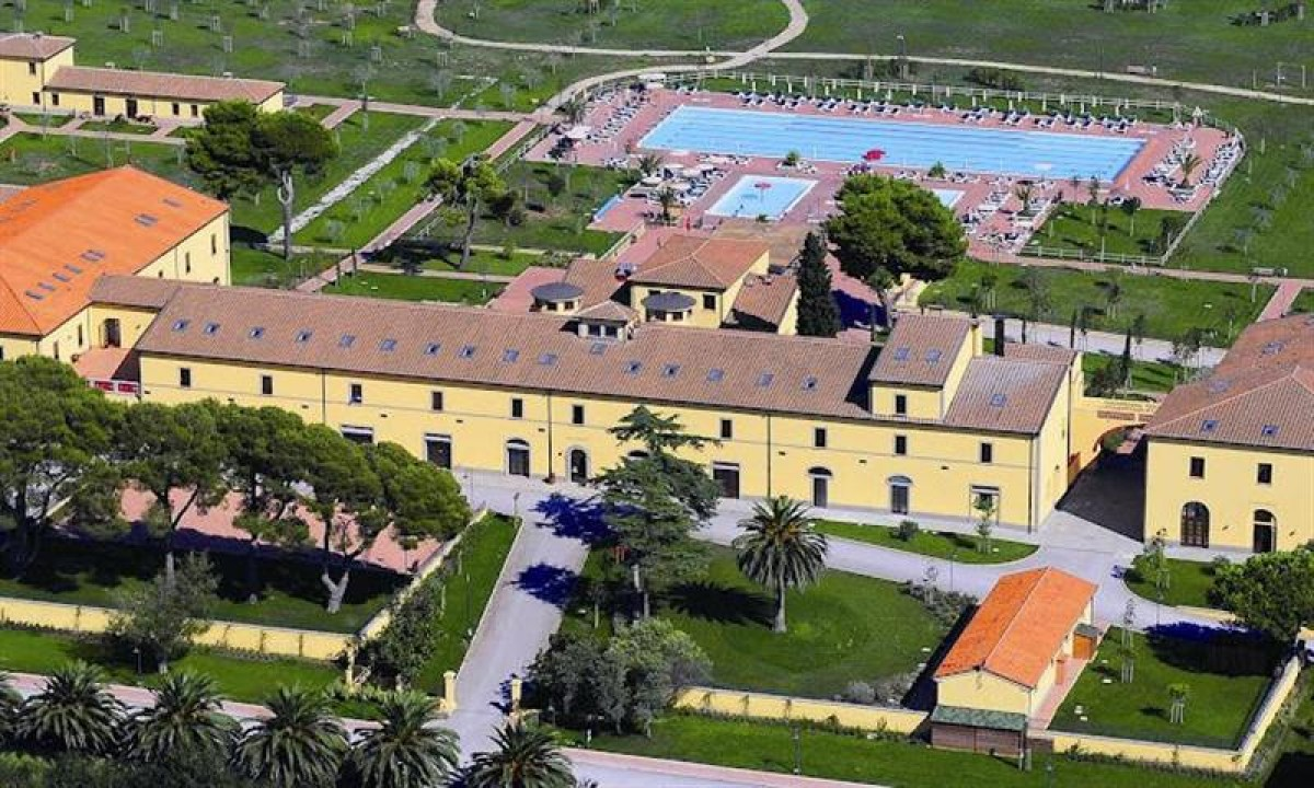 Luftfoto af Poggio all'Agnello i Piombino