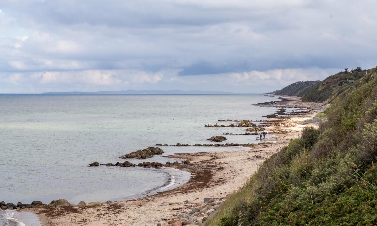 Strand i Nordsjaelland i Danmark
