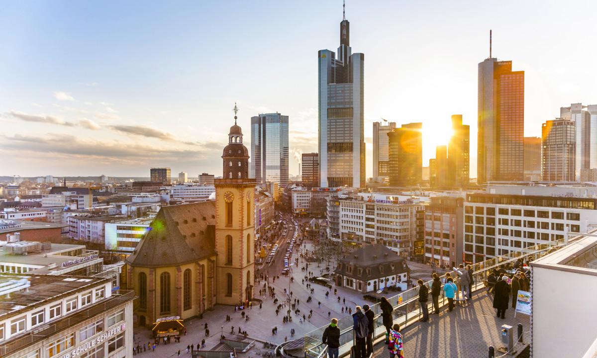 Centrum i Frankfurt