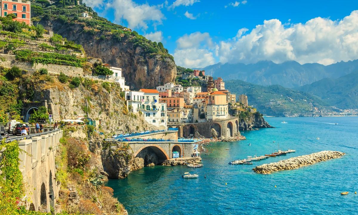 Amalfikysten i Italien