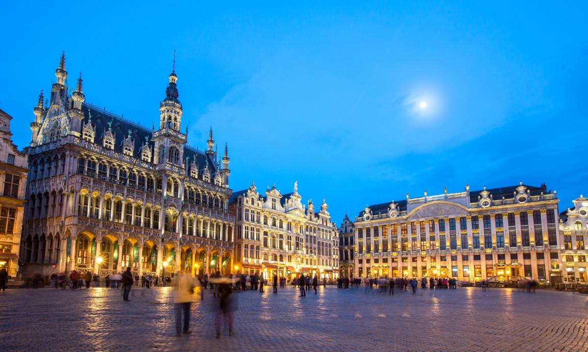Bruxelles i Belgien - Grand Place