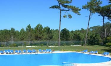 Pool, Strand und Einrichtungen am Platz Camping Sao Pedro de Moel