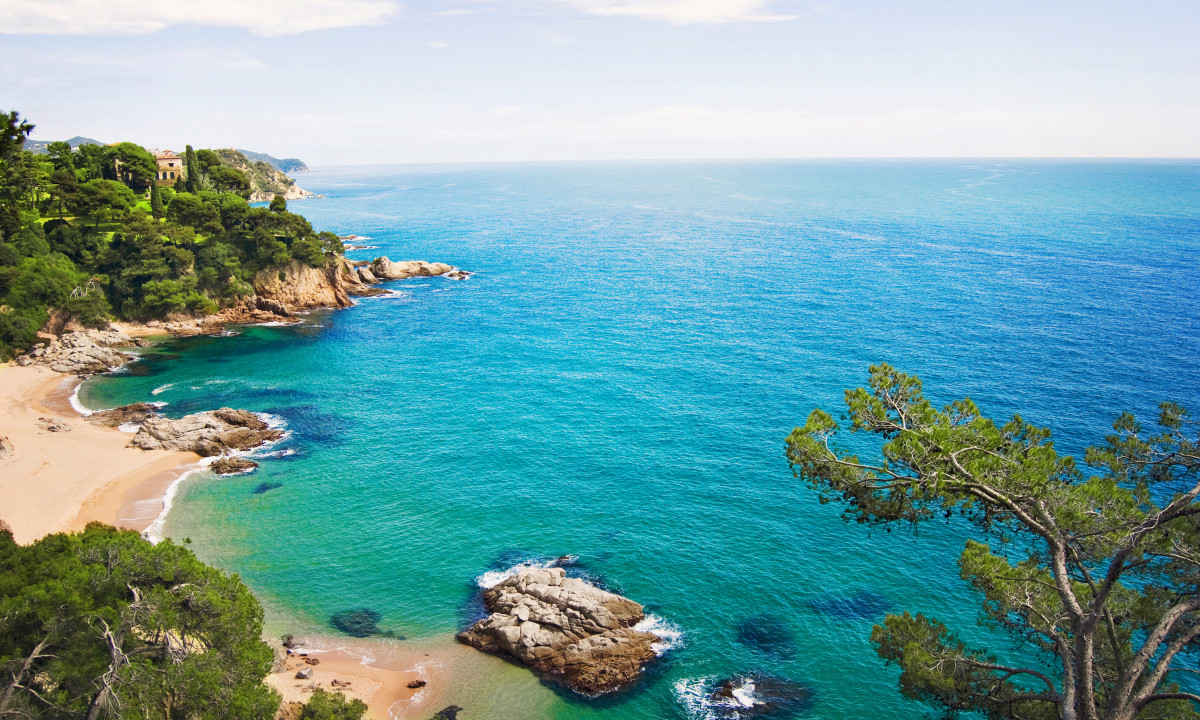 Stranden langs Costa Brava