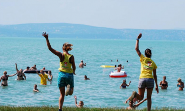 Pool Camping Village Aranypart am Balaton