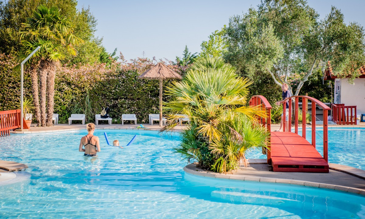 Pool - Badning på Camping Atlantica