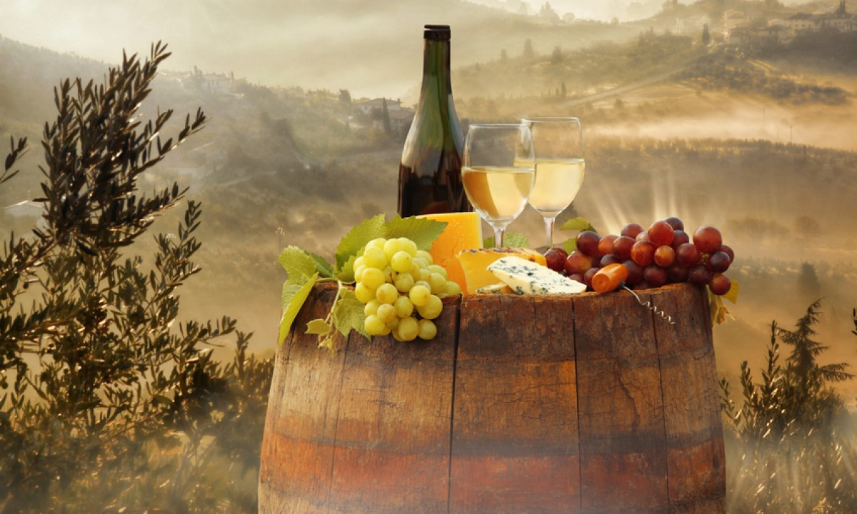 Vinmark i Toscana