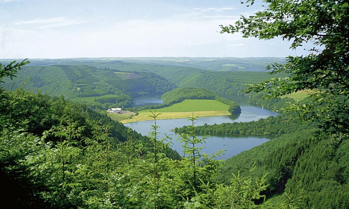 Det smukke groenne terraen omkring Camping Fuussekaul