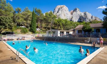 Pool Camping La Vallée Heureuse in der Provence