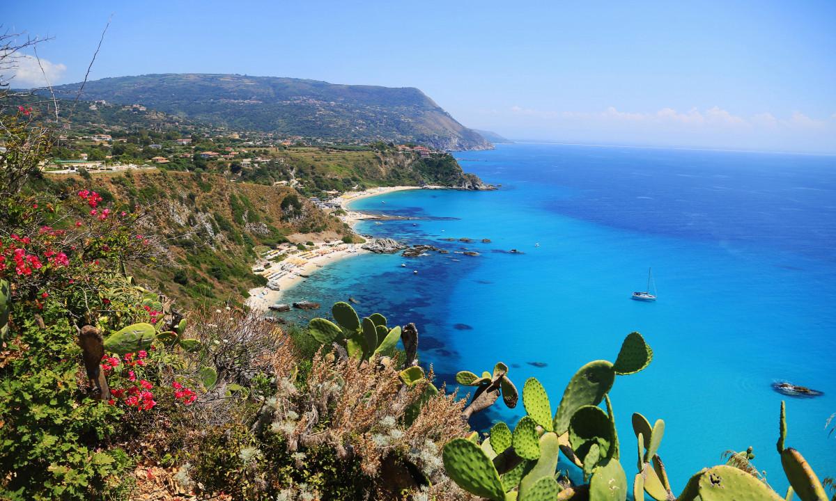 Stranden Capo Vaticano i Calabrien