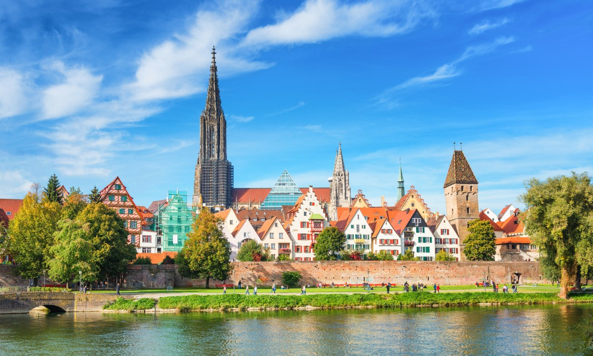 Frieburg i Sydtyskland - Baek samt bygninger
