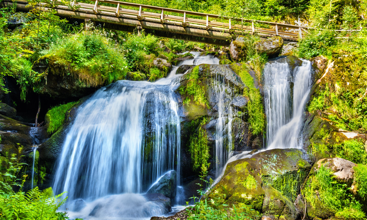 Triberger vandfaldet i Schwarzwald