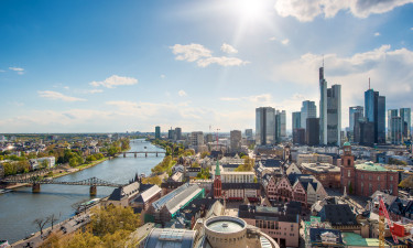 Businesskvarteret i Frankfurt