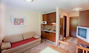 Aparthotel Rosa - Kombineret opholdsrum og køkken