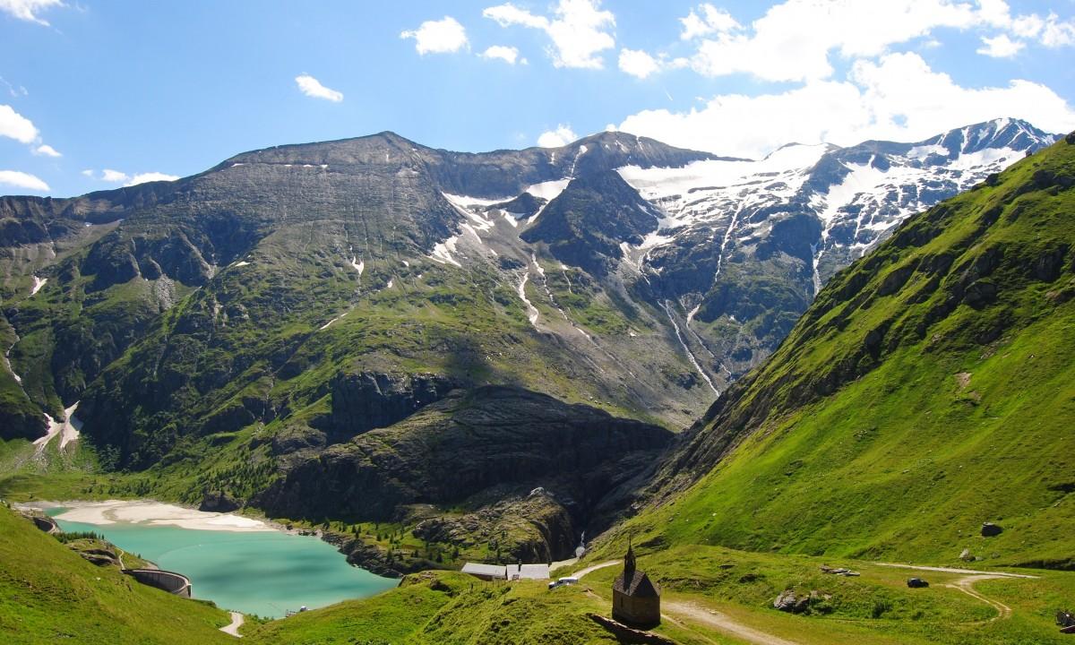 Hohe Tauern nationalpark i Oest Tyrol i Oestrig