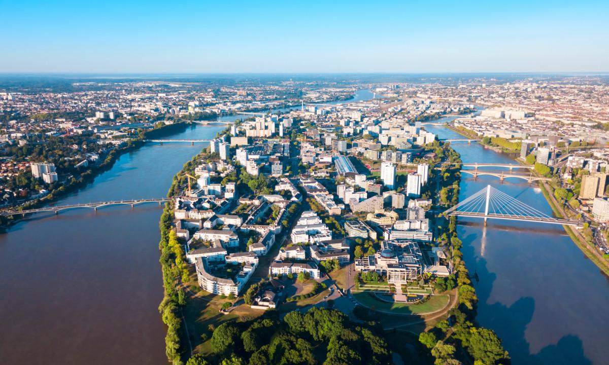 Byen Nantes i Frankrig