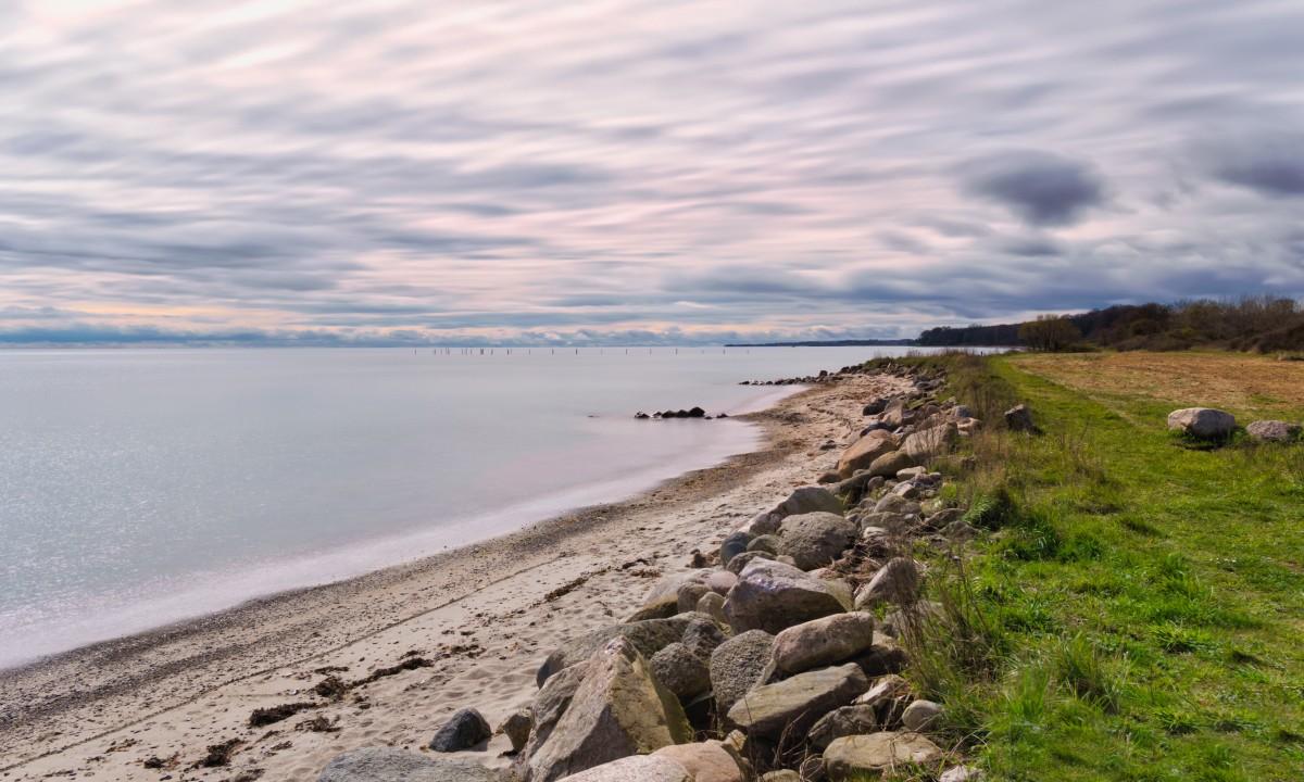 Smuk strand paa Fyn
