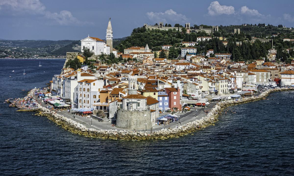 Piran - Populær by ved den slovenske Adriaterhavskyst