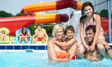 Vandland med inden- og udendørs pool samt wellness