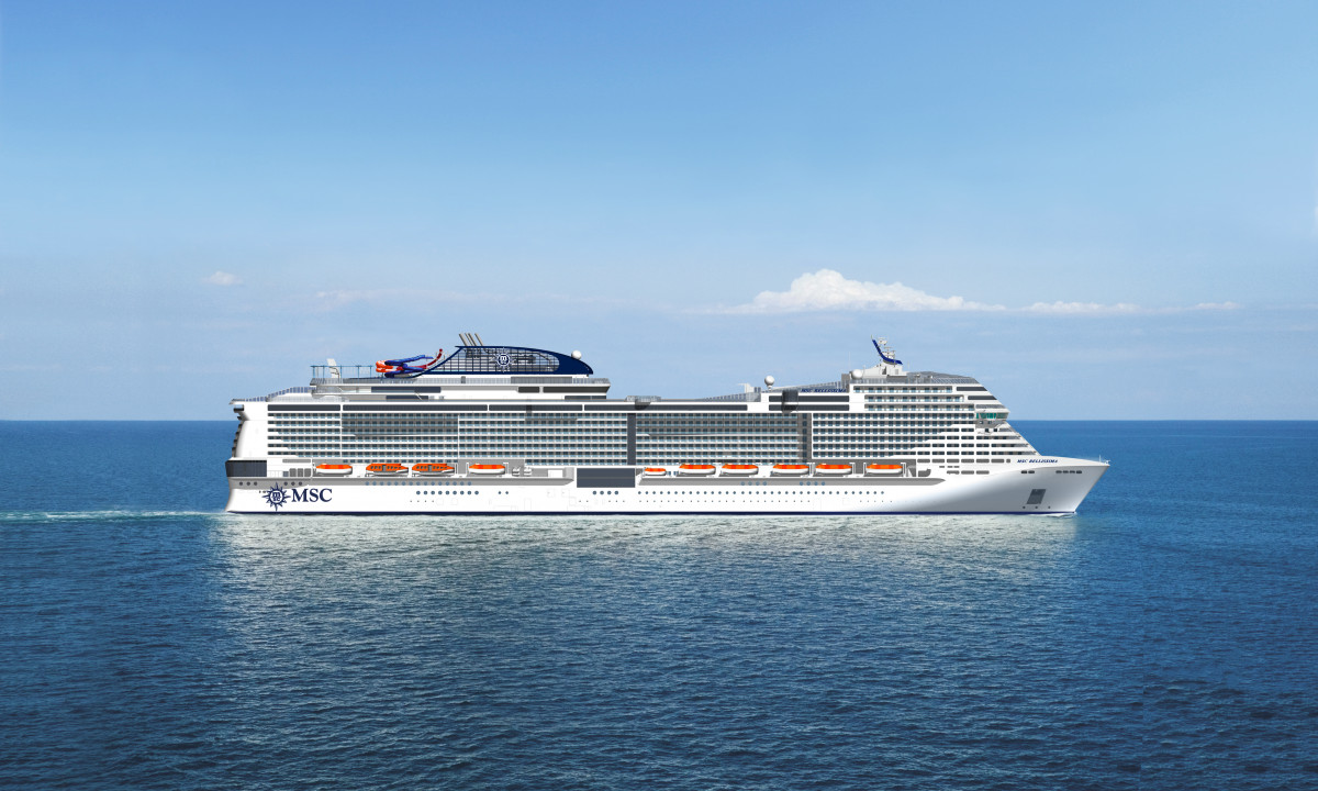 Det nye skib Bellissima
