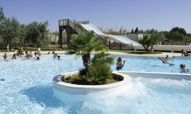 Pool Camping La Cote des Roses in Languedoc