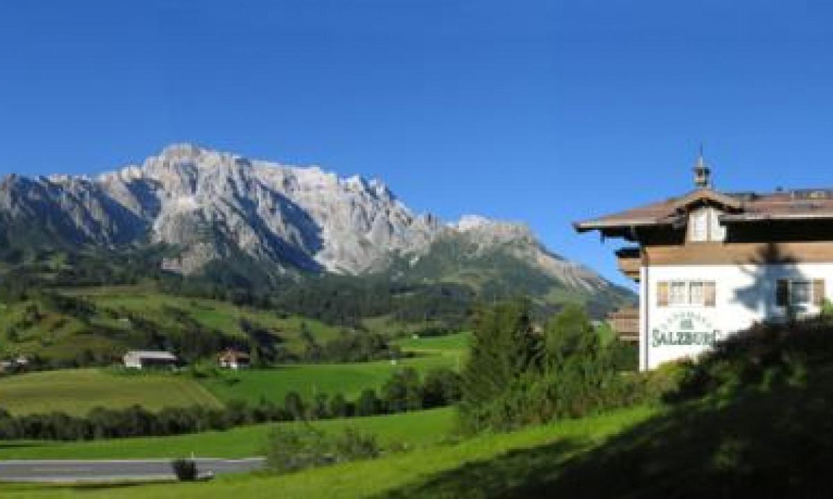 Landhaus Salzburg - Bjergudsigt fra ferielejlighed