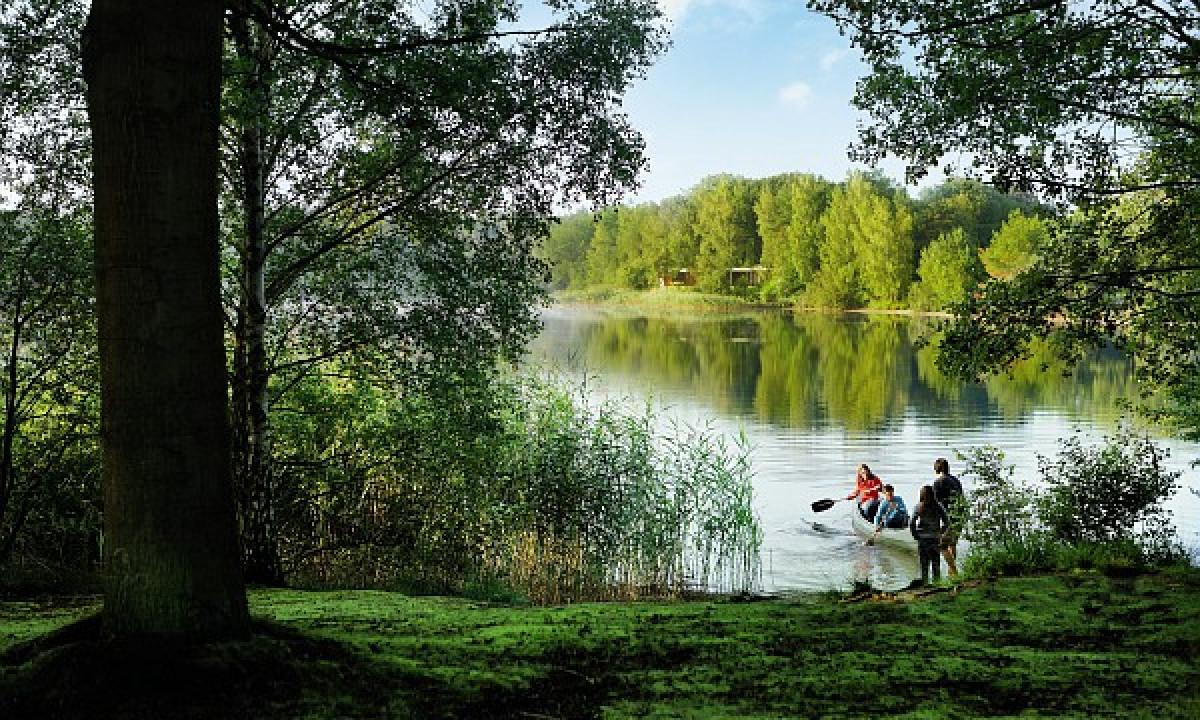 De Vossemeren - Sejlads på søen i grøn natur