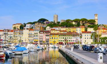 Les villes sur la Côte d'Azur