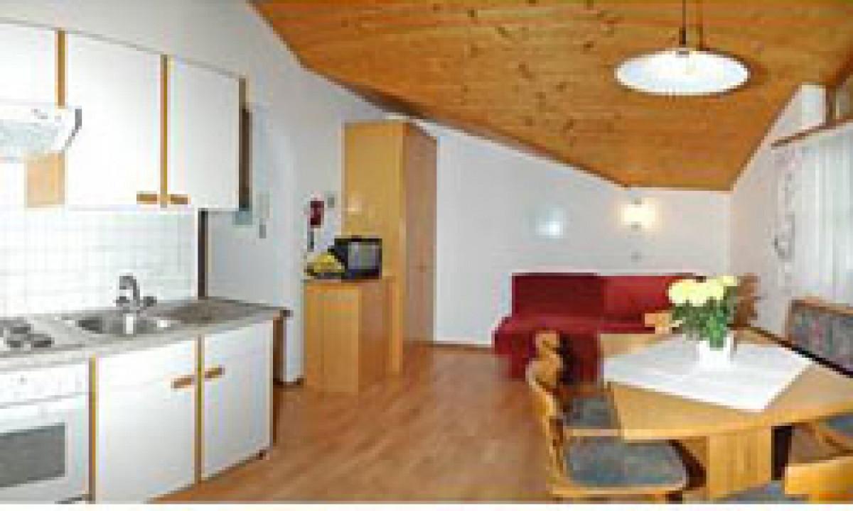 Dachsteinblick - Køkken og opholdsrum i den store ferielejlighed
