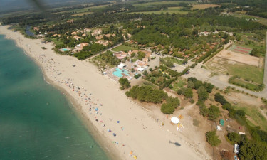 Campingplads ved strand