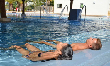 Særligt afslappende poolområde