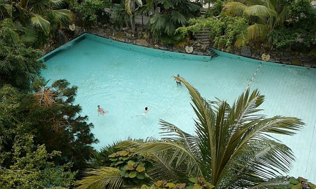 Les Hauts de Bruyères - Stor pool i subtropiske omgivelser