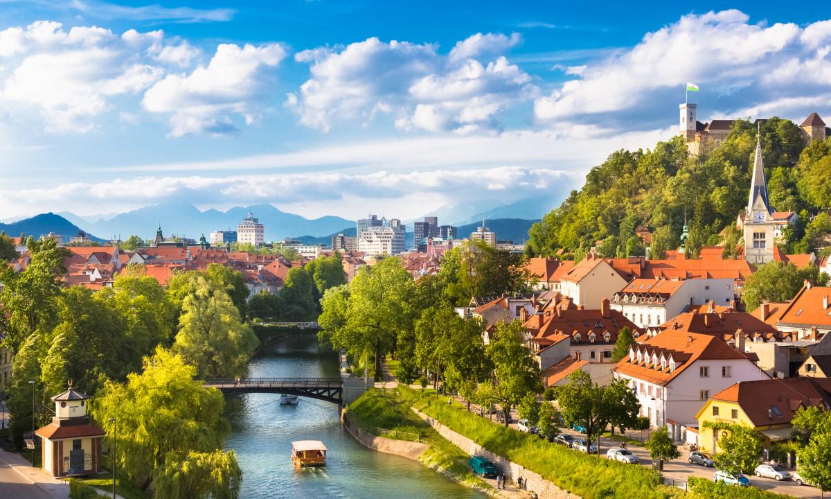 Ljubljana - Floden løber igennem hovedstaden
