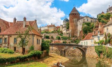 Hyggelig landsby i Bourgogne