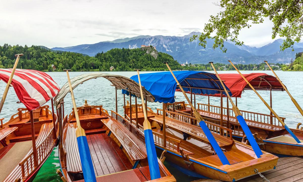 Bled - Bådtur på søen Bled
