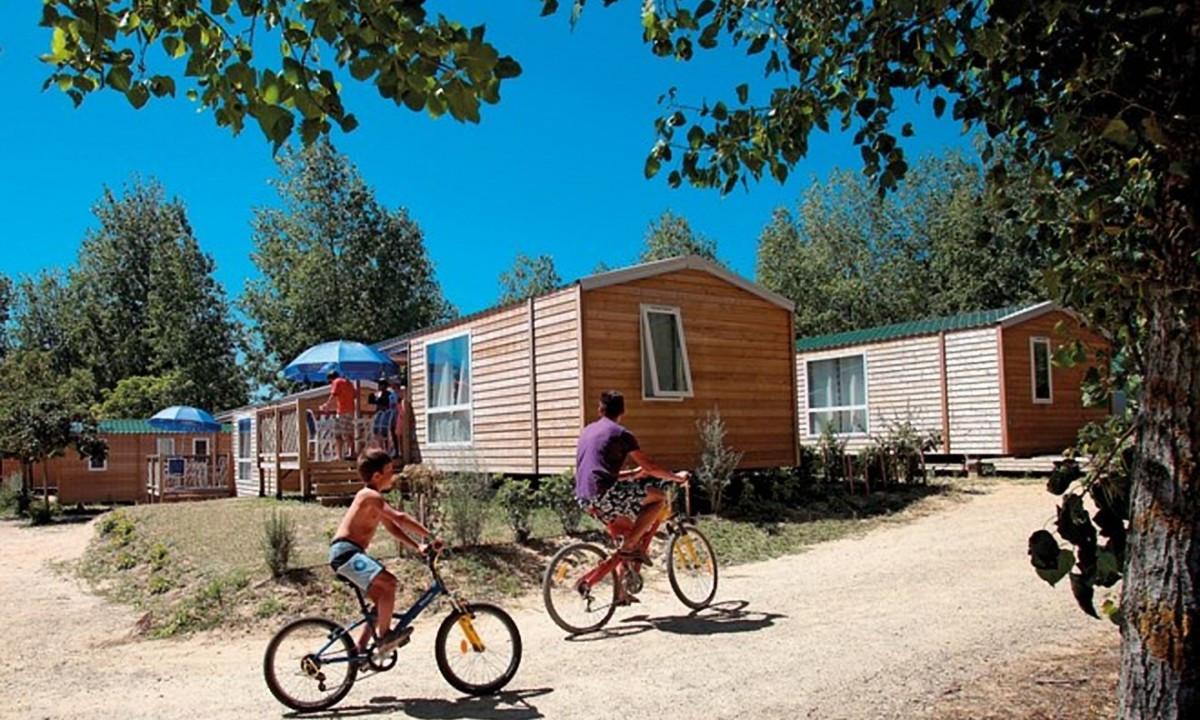 Cykeltur på campingpladsen