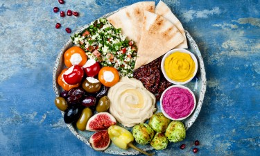Tyrkisk mad paa en tallerken