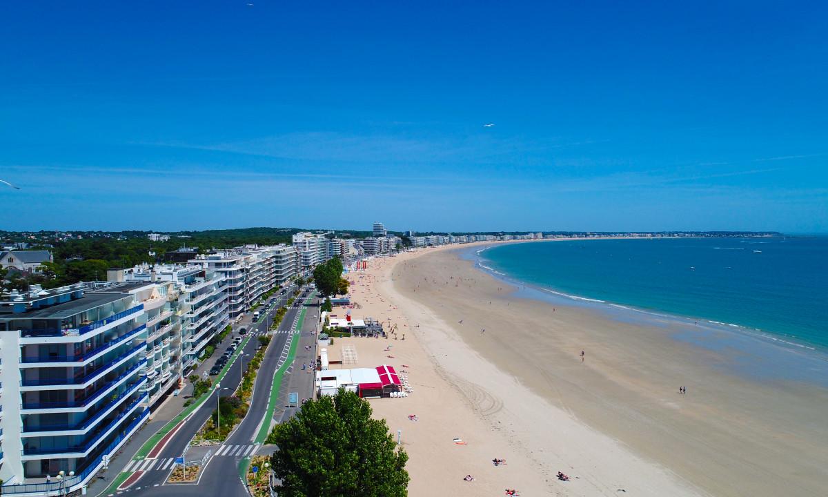 Strande La Baule i Bretagne