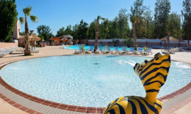 Pool Camping les Sables du Midi in Valras Plage, Languedoc