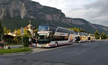 Med Badebussen til Camping Cavallino