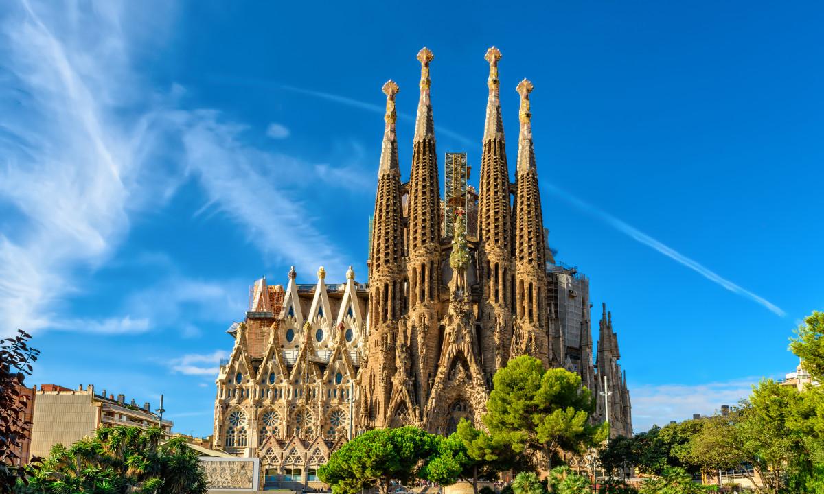 Sagrada Familia - Katedral i Barcelona
