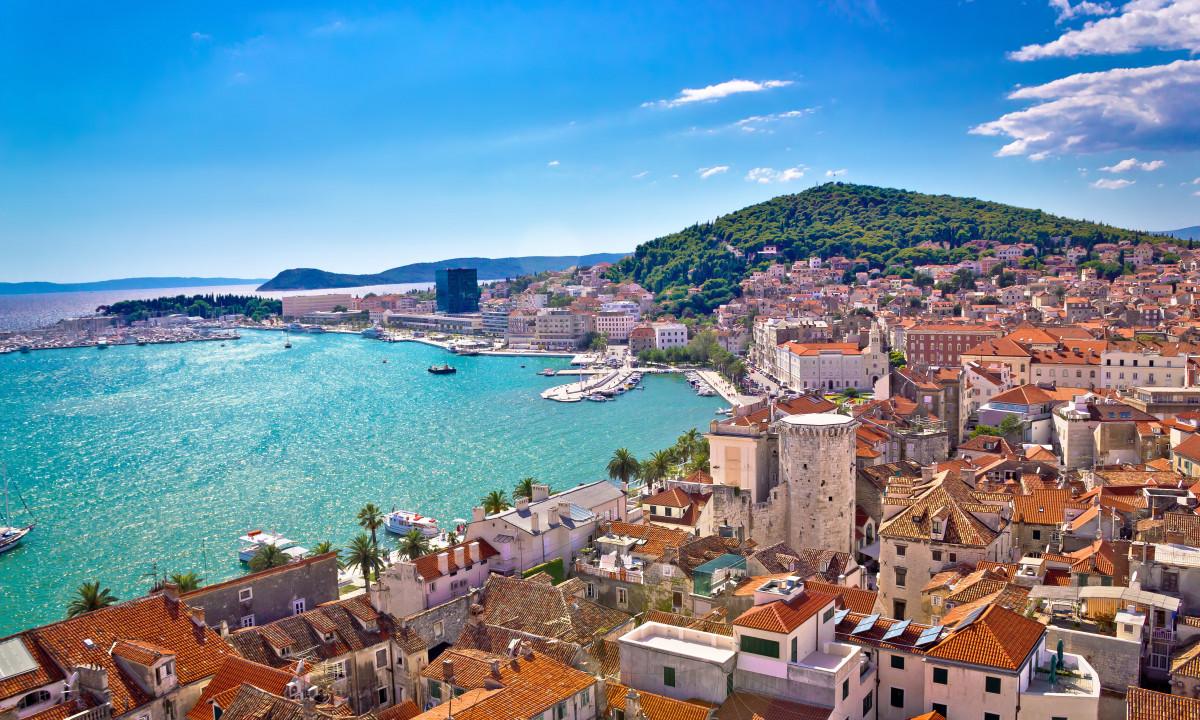 Split by i Kroatien - Byen samt kysten
