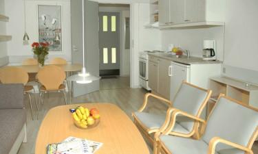 Veludstyret køkken og et silderøgeri i Hasle